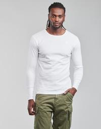 Îmbracaminte Bărbați Tricouri cu mânecă lungă  G-Star Raw BASE R T LS 1-PACK Alb