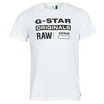 Îmbracaminte Bărbați Tricouri mânecă scurtă G-Star Raw GRAPHIC 8 R T SS Alb