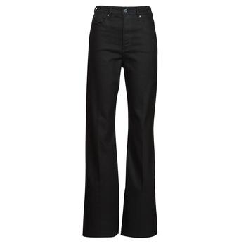 Îmbracaminte Femei Jeans bootcut G-Star Raw DECK ULTRA HIGH WIDE LEG Negru