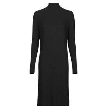 Îmbracaminte Femei Rochii lungi G-Star Raw RIB MOCK SLIM DRESS Negru