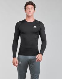 Îmbracaminte Bărbați Tricouri cu mânecă lungă  Under Armour UA HG ARMOUR COMP LS Negru / Alb