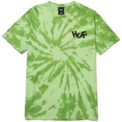 Îmbracaminte Bărbați Tricouri & Tricouri Polo Huf T-shirt haze brush tie dye ss verde