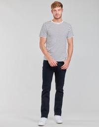 Îmbracaminte Bărbați Jeans drepti Lee BROOKLYN STRAIGHT Albastru / Negru