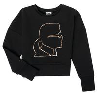 Îmbracaminte Fete Hanorace  Karl Lagerfeld CORNALINE Negru