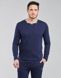 Îmbracaminte Bărbați Tricouri cu mânecă lungă  Polo Ralph Lauren CREEW SLEEP TOP Albastru