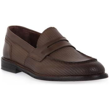 Pantofi Bărbați Mocasini Marco Ferretti STRAW NOCE Marrone
