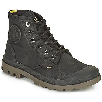Pantofi Ghete Palladium PAMPA CANVAS Negru