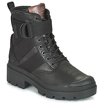 Pantofi Femei Ghete Palladium PALLABASE TACT STR L Negru