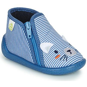 Pantofi Băieți Papuci de casă Citrouille et Compagnie PASTA Albastru