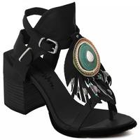 Pantofi Femei Pantofi cu toc Rebecca White T0509 |Rebecca White| D??msk?? sand??ly na vysok??m podpatku z ?ern??