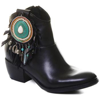 Pantofi Femei Botine Rebecca White T0605 |Rebecca White| D??msk?? ?ern?? ko?en?? kotn??kov?? boty s bloko