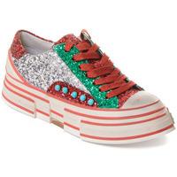 Pantofi Femei Sneakers Rebecca White T2208 |Rebecca White| D??msk?? st???brn??/?erven??/zelen?? t?pytiv?? t