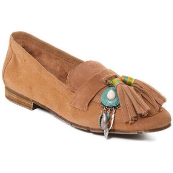 Pantofi Femei Mocasini Rebecca White T3506 Bej