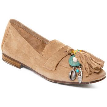 Pantofi Femei Mocasini Rebecca White T3506 Maro
