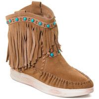 Pantofi Femei Botine Rebecca White T6016 Maro