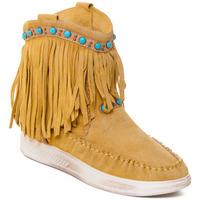 Pantofi Femei Botine Rebecca White T6016 galben