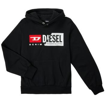 Îmbracaminte Copii Hanorace  Diesel SGIRKHOODCUTYX OVER Negru