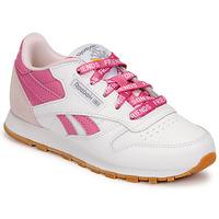 Pantofi Copii Pantofi sport Casual Reebok Classic CL LTHR Alb / Roz