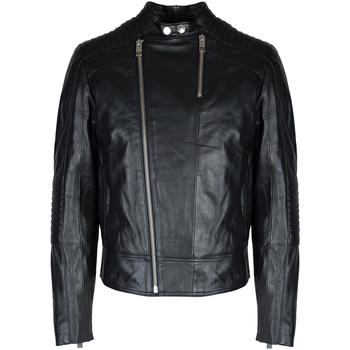 Îmbracaminte Bărbați Jachete din piele și material sintetic Les Hommes  Negru