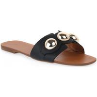 Pantofi Femei Papuci de vară Miss Unique UNIQUE   CALF PRETO Nero
