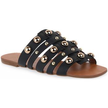Pantofi Femei Papuci de vară Miss Unique UNIQUE OURO CALF PRETO BORCHIE Dorato