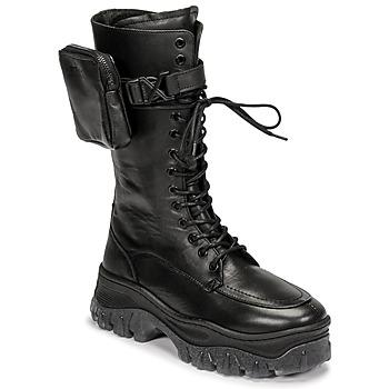 Pantofi Femei Ghete Bronx JAXSTAR HIGH Negru