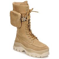 Pantofi Femei Ghete Bronx JAXSTAR HIGH Bej