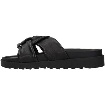 Pantofi Femei Papuci de vară Apepazza S1SOFTWLK01/LEA BLACK