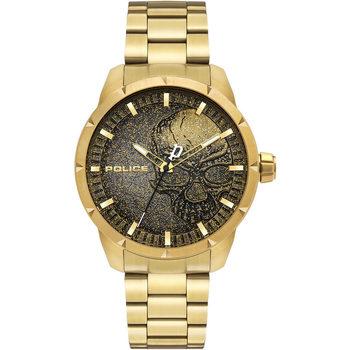 Ceasuri & Bijuterii Bărbați Ceasuri Analogice Police PL15715JSG.02AM, Quartz, 46mm, 3ATM Auriu