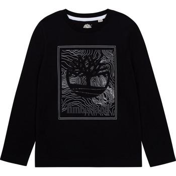 Îmbracaminte Băieți Tricouri cu mânecă lungă  Timberland AIFRET Negru