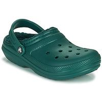 Pantofi Saboti Crocs CLASSIC LINED CLOG Verde