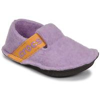 Pantofi Fete Papuci de casă Crocs CLASSIC SLIPPER K Violet / Galben