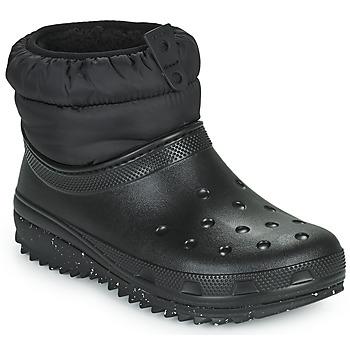 Pantofi Femei Cizme de zapadă Crocs CLASSIC NEO PUFF SHORTY BOOT W Negru