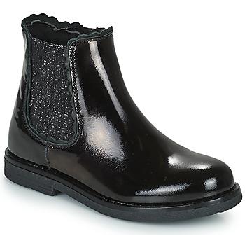 Pantofi Fete Ghete Citrouille et Compagnie PRAIRIE Negru