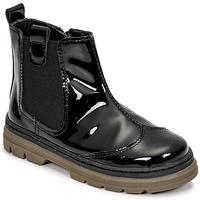 Pantofi Fete Ghete Citrouille et Compagnie PATATA Negru / Lac
