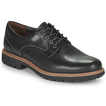 Pantofi Bărbați Pantofi Derby Clarks BATCOMBE HALL Negru