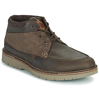Pantofi Bărbați Ghete Clarks EASTFORD TOP Maro