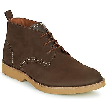 Pantofi Bărbați Ghete Clarks FALLHILL MID Maro
