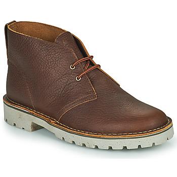 Pantofi Bărbați Ghete Clarks OVERDALE MID Camel