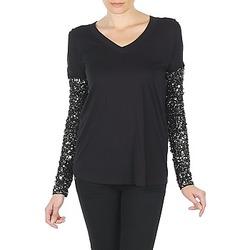 Îmbracaminte Femei Tricouri cu mânecă lungă  Manoush TSHIRT ML INDIAN BASIC Negru