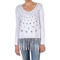 Îmbracaminte Femei Tricouri cu mânecă lungă  Manoush TUNIQUE LIANE Alb