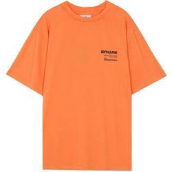 Îmbracaminte Bărbați Tricouri mânecă scurtă Sixth June T-shirt  barcode orange