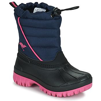 Pantofi Fete Cizme de zapadă Kangaroos K-BEN Albastru / Roz