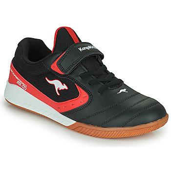 Pantofi Copii Pantofi sport Casual Kangaroos K5-COURT EV Negru / Roșu