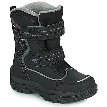 Pantofi Copii Cizme de zapadă Kangaroos K-LENO V RTX Negru