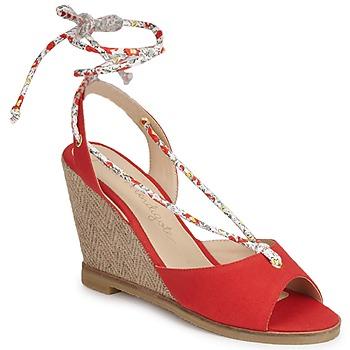Pantofi Femei Sandale și Sandale cu talpă  joasă Petite Mendigote BLONDIE Roșu