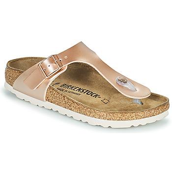 Pantofi Fete  Flip-Flops Birkenstock GIZEH Roz / Auriu