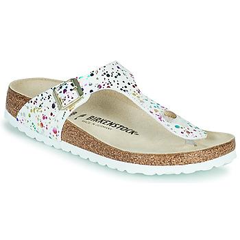 Pantofi Fete  Flip-Flops Birkenstock GIZEH Alb / Multicolor