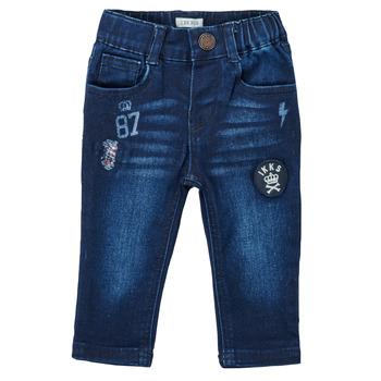 Îmbracaminte Băieți Jeans drepti Ikks ACIER Albastru / Culoare închisă