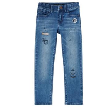 Îmbracaminte Băieți Jeans slim Ikks VANILLE Albastru